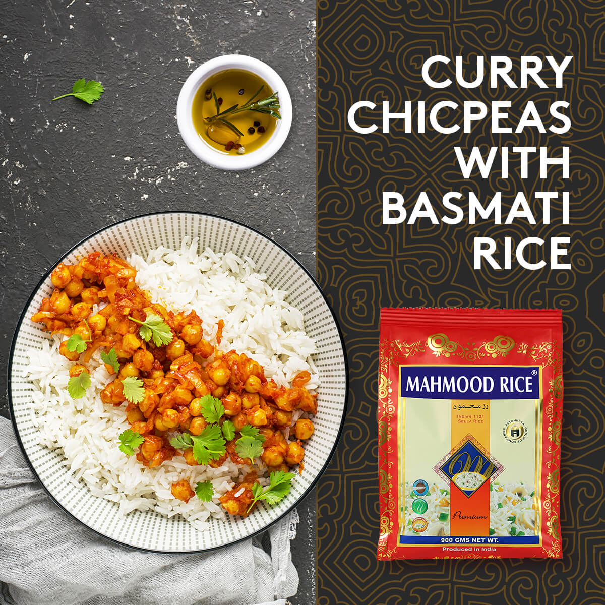 Curry Chicpeas with Basmati Rice